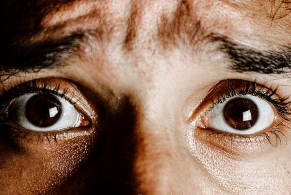 This is a picture of a person's eyes who show panic. Do you suffer from panic, do you need my help. Are you looking for counselling or hypnotherapy in Crawley to help with fear or panic issues, then you need my help.